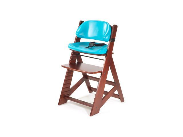 Keekaroo Height Right Kid's Chair with Comfort Cushions - Mahagany/Aqua
