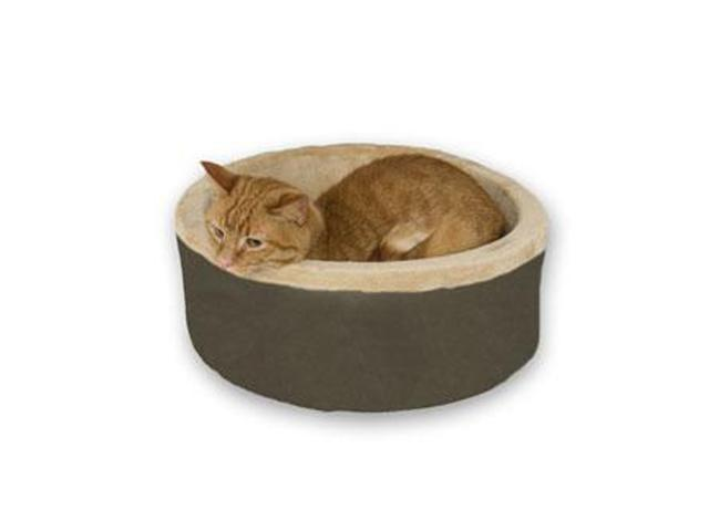 K&H Pet Products Thermo-Kitty Bed Mocha 20