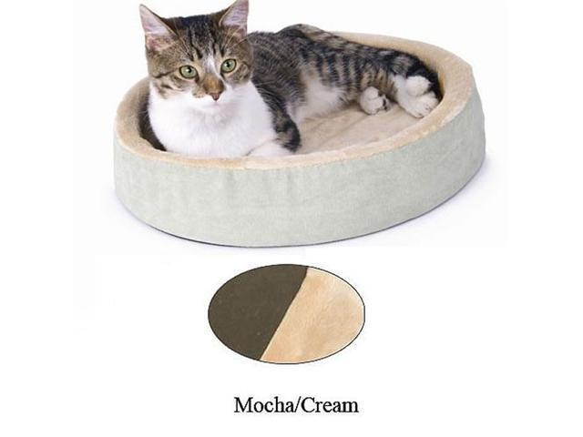 K&H Pet Products Thermo-Kitty Cuddle Up Mocha 16