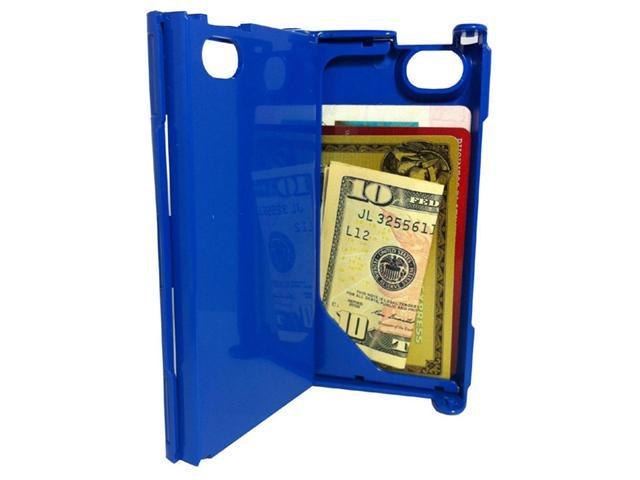 iFunner iTur iPhone Hard Plastic Durable ID Credit Card Slim Wallet Case - Blue