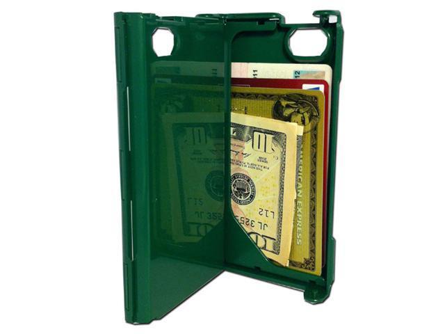 iFunner iTur iPhone Hard Plastic Durable ID Credit Card Slim Wallet Case - Dark Green