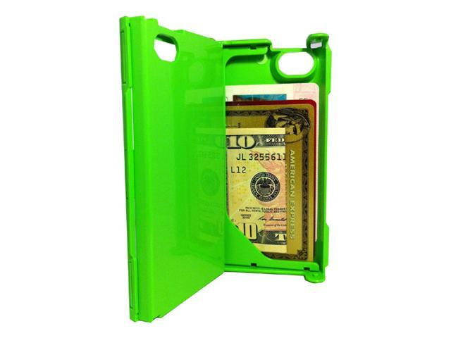iFunner iTur iPhone Hard Plastic Durable ID Credit Card Slim Wallet Case - Lime Green