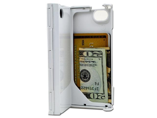 iFunner iTur iPhone Hard Plastic Durable ID Credit Card Slim Wallet Case - White