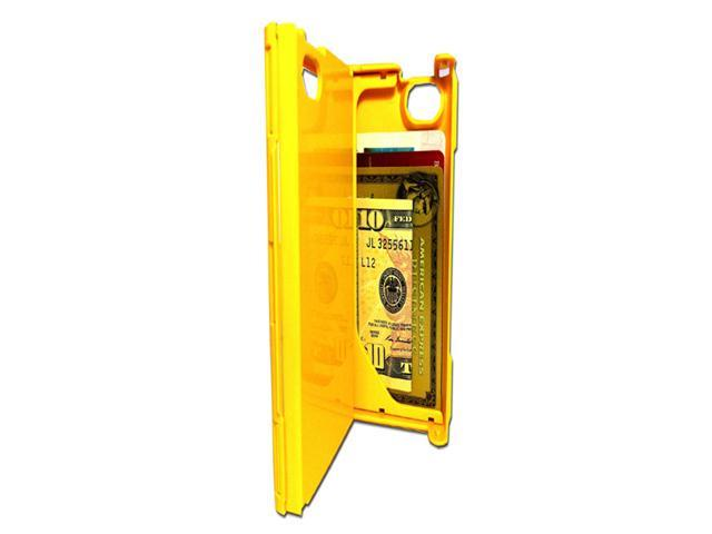 iFunner iTur iPhone Hard Plastic Durable ID Credit Card Slim Wallet Case - Yellow