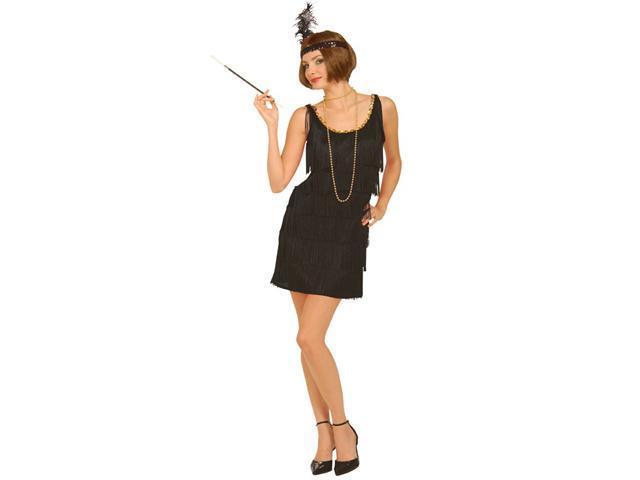 Black Flapper Adult Plus Costume