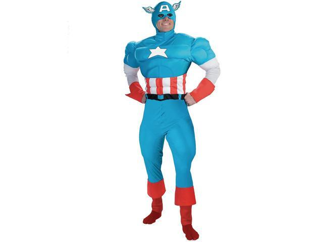 Captain America Deluxe Muscle Costume Adult