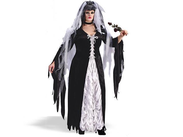 Adult Plus Bride Of Darkness Costume FunWorld 5743