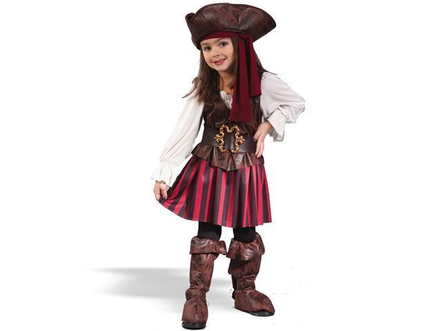 Toddler High Seas Pirate Girl Costume FunWorld 1558