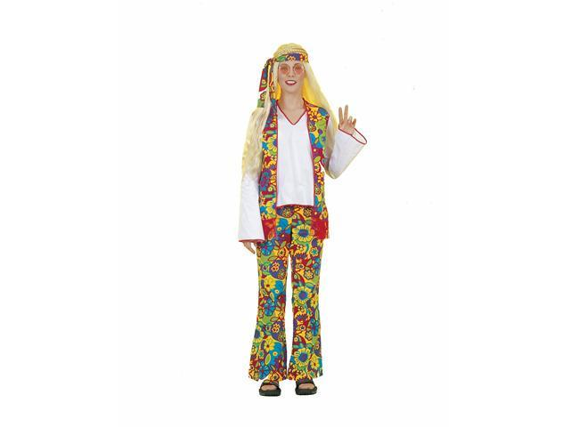 Hippie Woman Adult Plus Costume