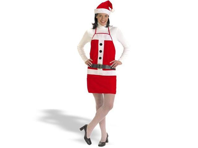 Adult Holiday Apron and Hat Costume
