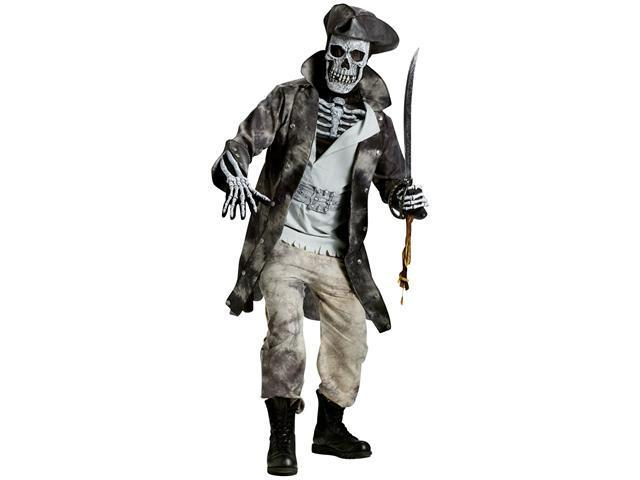Ghost Pirate Adult Costume - One-Size (Standard)