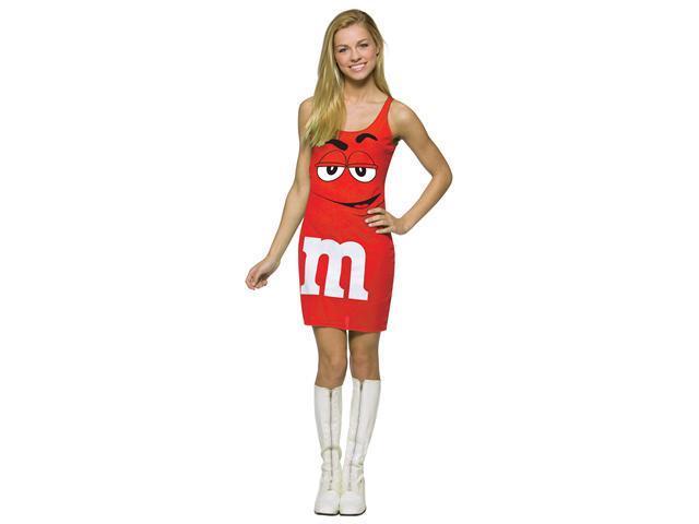 M&M  Red Tank Dress Teen Costume