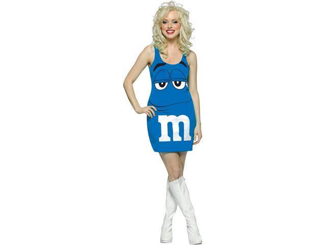 M&M Blue Tank Dress Adult Costume