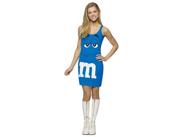M&M Blue Tank Dress Teen Costume