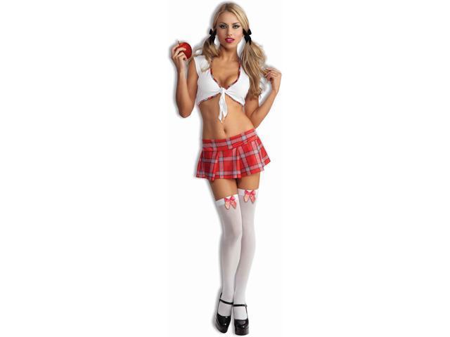 Sexy Womens School Girl Red Costume