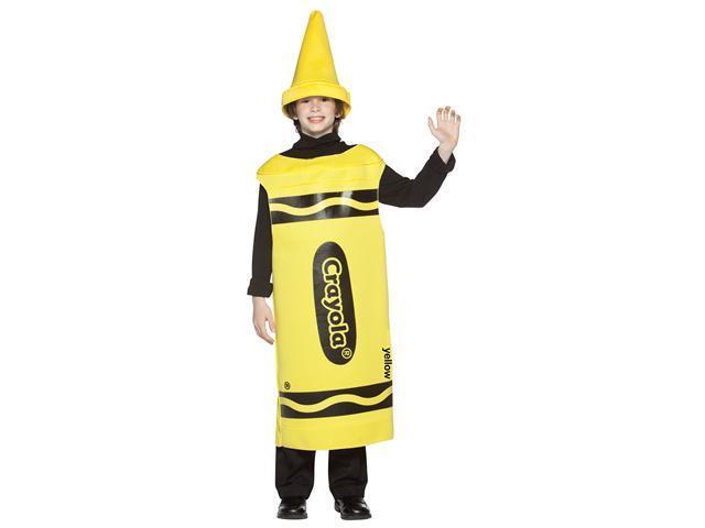 Yellow Crayola Crayon Child Costume Tween 10-12