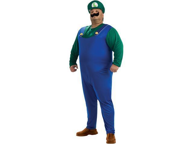 Super Mario Bros. Luigi Adult Plus Costume