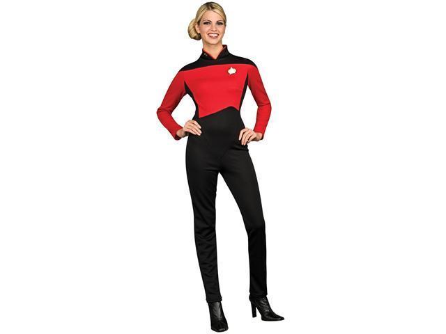 Star Trek Next Generation Red Jumpsuit Deluxe Adult Costume