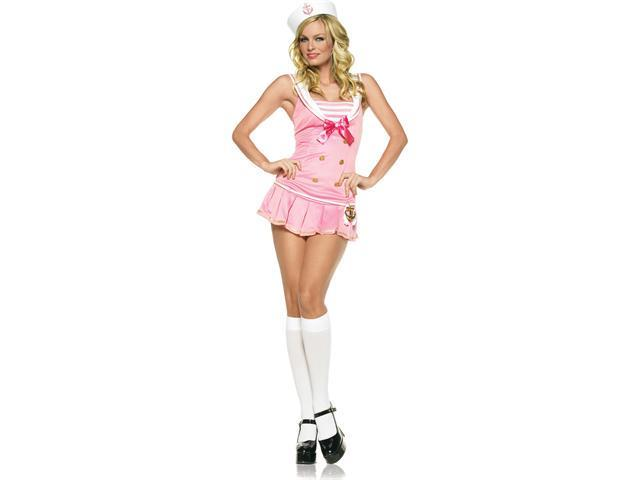 Adult Sexy Pink Shipmate Cutie Costume Leg Avenue 83272