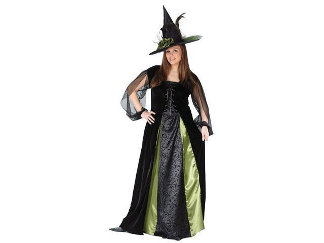 Plus Size Gothic Witch Maiden Costume for Women