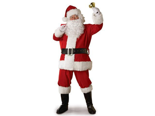 X Large Regal Regency Plush Santa Suit Costume For adult
