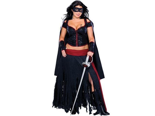 Lady Zorro Adult Plus Costume - Plus