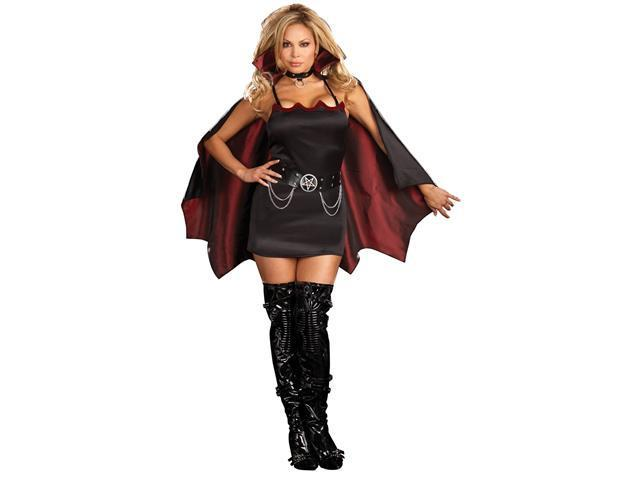 Fang Bangin' Fun Vamp Adult Plus Costume