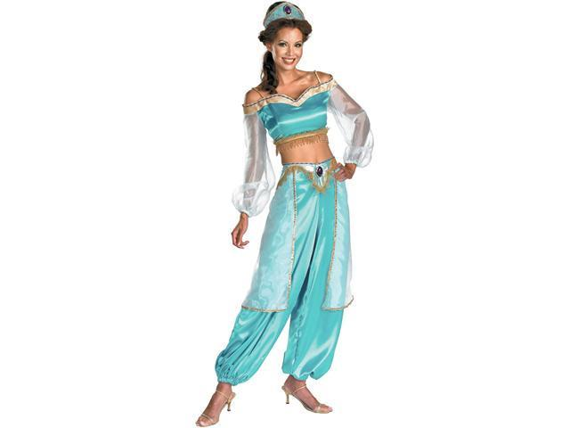 Disney Princess Jasmine Prestige Fab Costume For Women - Medium (8-10)