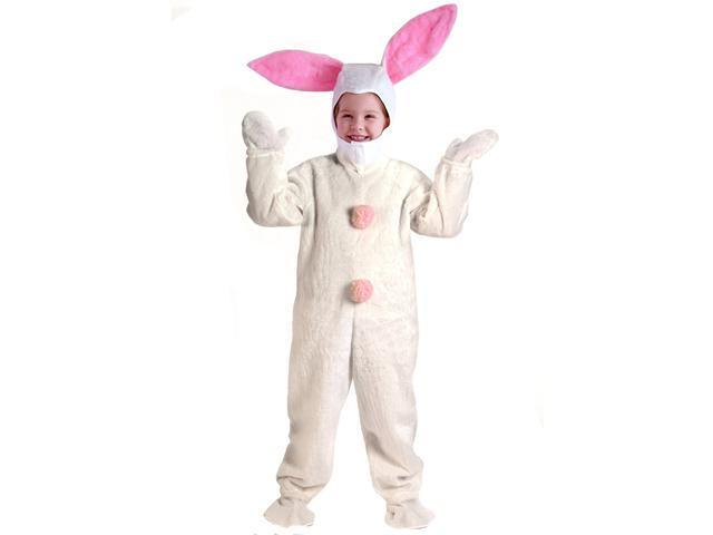 Kids White Easter Bunny Suit Costume