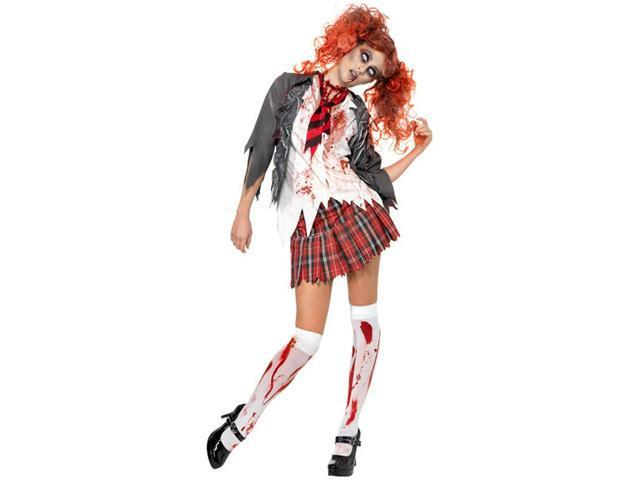 Adult High School Zombie School Girl Costume Smiffys 32929