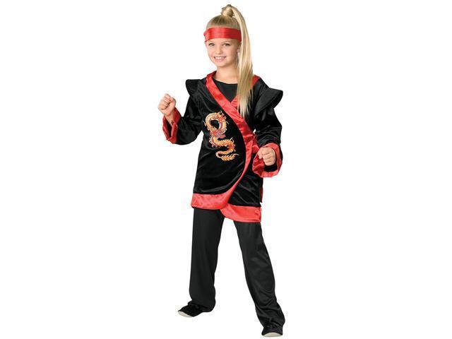 Girl's Red Ninja Costume Rubies 882379
