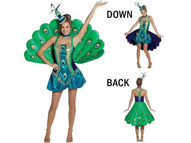 Adult Peacock Costume Rasta Imposta 7691