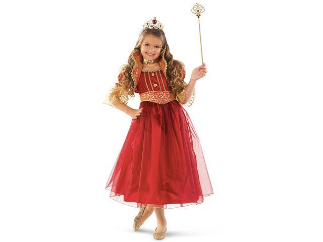Child Gold & Burgundy Renaissance Gown Costume Forum Novelties 62573
