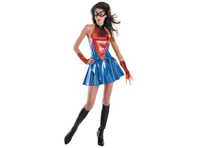 Womens Sassy Deluxe Spider Girl Costume