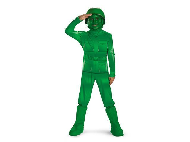 Toy Story Child Green Army Man Deluxe Cosutme Disguise 11362