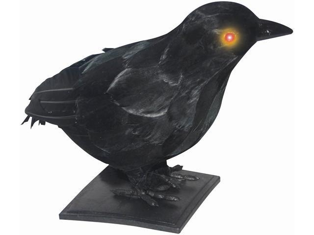 """10"""" Realistic Crow with Light Up Eyes and Sound"""