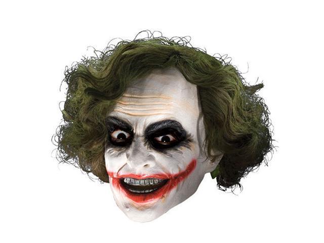 Child Joker Vinyl Mask with Hair Rubies 4492