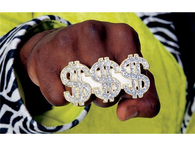Triple Dollar Sign Ring Rubies 699