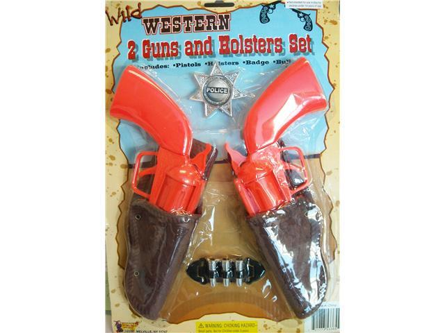 Double Guns and Holster Cowboy Set Child