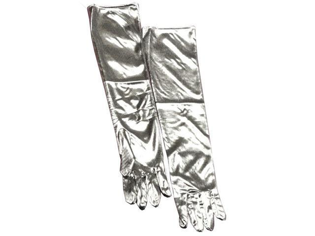 Silver Lame Adult Gloves