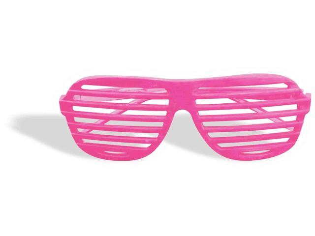 Neon Pink Slot Adult Glasses