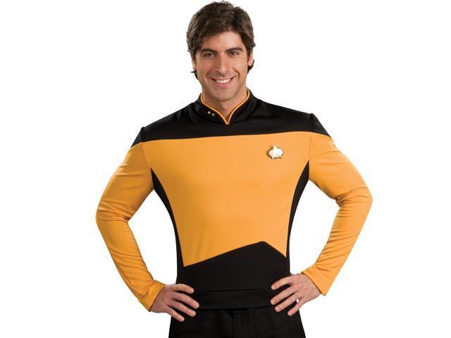 Star Trek Next Generation Gold Shirt Deluxe Adult Costume