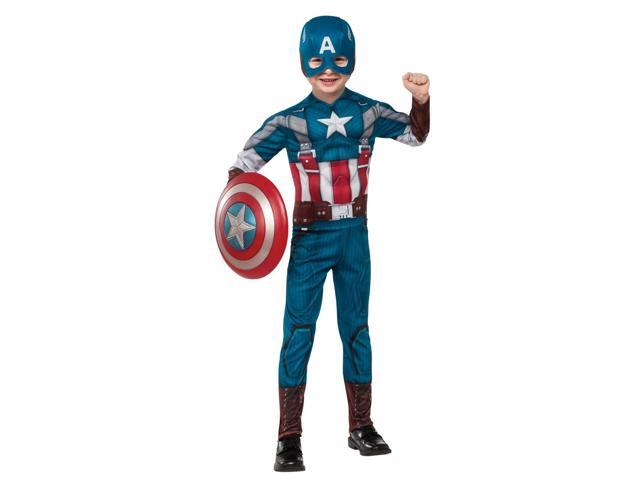 Captain America The Winter Soldier Deluxe Retro Child Costume - Large (12/14)