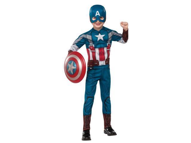 Captain America The Winter Soldier Deluxe Retro Child Costume - Large (12/14)