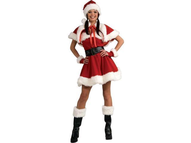 Velvet Miss Santa Adult Costume - Medium