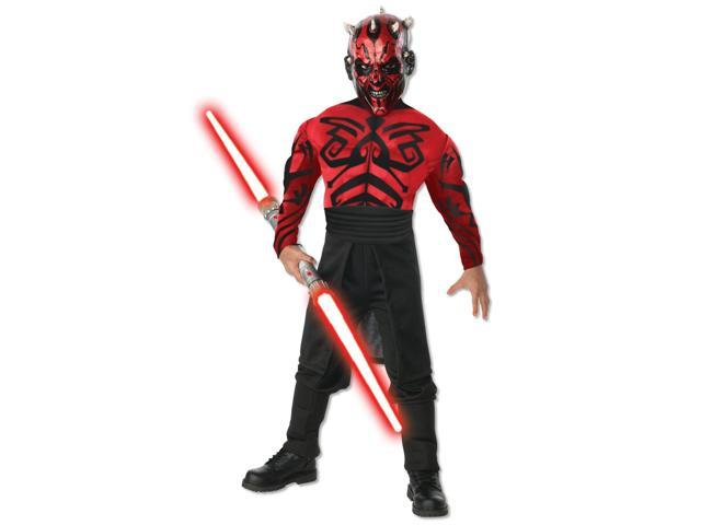 Stars Wars Deluxe Muscle Chest Darth Maul Child Costume - Medium (8-10)