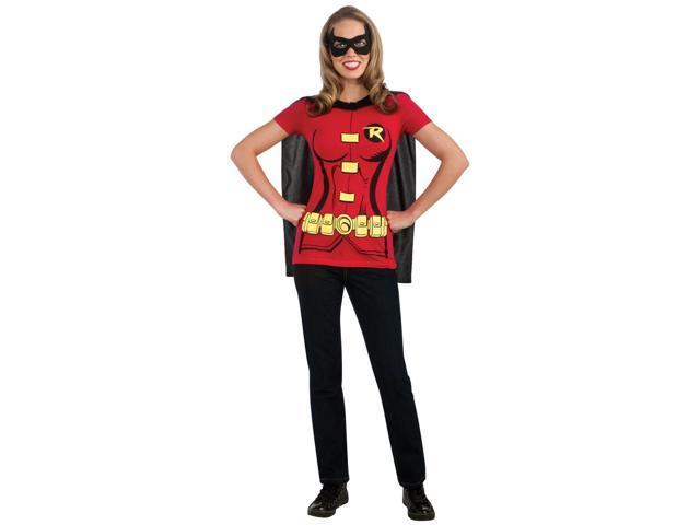 Robin (Female) T-Shirt Adult Costume Kit - Large
