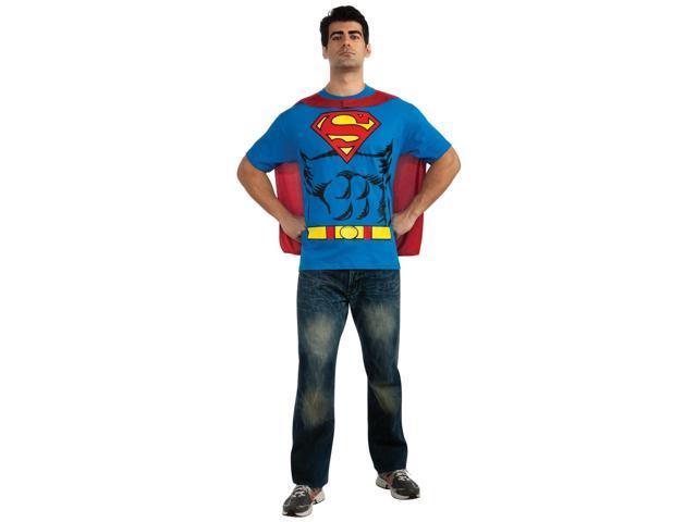 Superman T-Shirt Adult Costume Kit - Medium