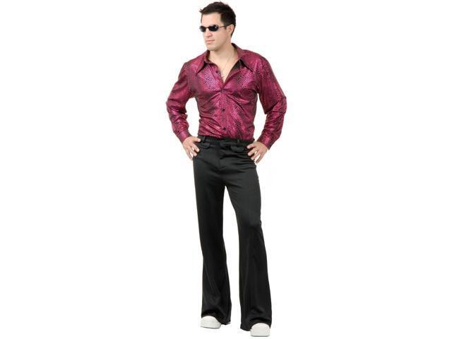Disco Shirt - Liquid Red & Black Adult Costume