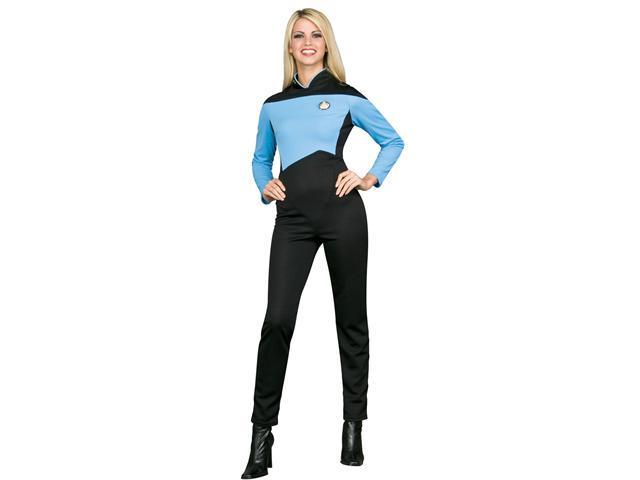 Deluxe Star Trek Blue Jumpsuit Costume - Star Trek the Next Generation Costumes